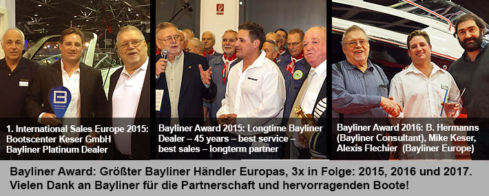 banner bayliner awards 2015 2016 2017